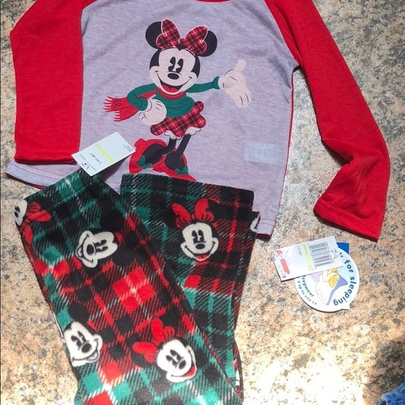 Disney girls Minnie Mouse 2 piece pajama set 6